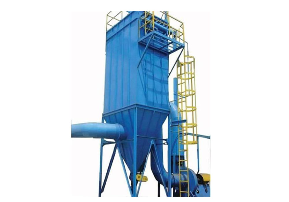 dmc系列单机脉冲布袋式除尘器构造主要由风机,箱体,排灰装置,控制系统